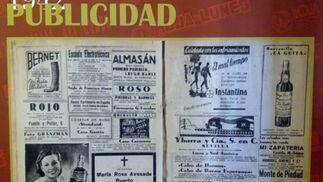 La publicidad en la Hoja del Lunes de los años 40.