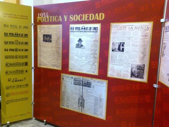 Exposición por el 75 aniversario de La Hoja del Lunes