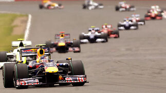 Vettel, al frente de la carrera.  Foto: Reuters / Afp Photo
