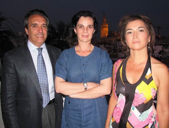 Ramón Ybarra, Verónica Lora y Lali Morillo.  Foto: Victoria Ramírez