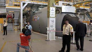 Vista interior de la factoría EADS-CASA, donde se está desarrollando el A400M.  Foto: José Ángel García