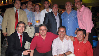 José Antonio Sánchez Araújo, con sus compañeros de la Cadena Ser.  Foto: Victoria Ramírez