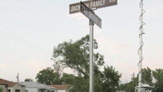 La esquina de Jackson con la Jackson Family en Gary, Indiana.  Foto: Reuters, Efe, Afp