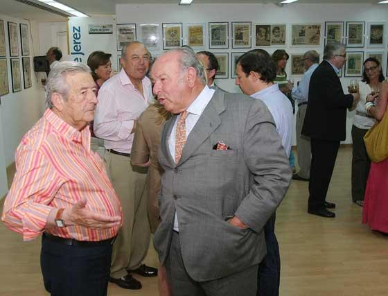 Álvaro Domecq junto a Alfonso Rodríguez, de Alfonso Catering.    Foto: Vanesa Lobo