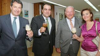 Álvaro Domecq junto a César Saldaña, David Fernández y Aurelia Romero, de Piaget&Nadal.    Foto: Vanesa Lobo