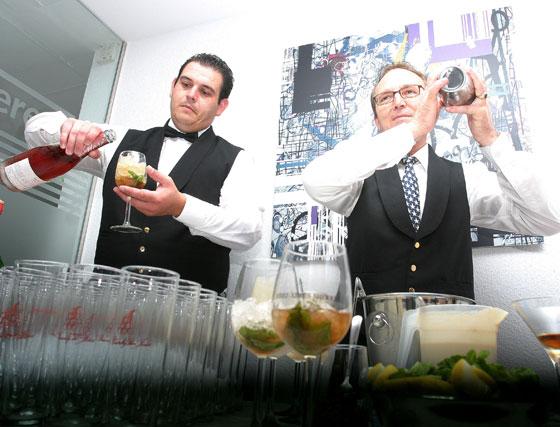 Algunos de los cócteles de brandy que se ofrecieron durante la presentación de la exposición.    Foto: Vanesa Lobo