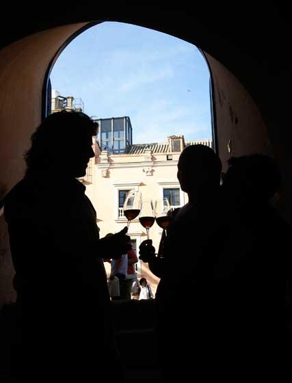 Contraluz en un rincón del conjunto monumental de ElAlcázar.  Foto: Pascual