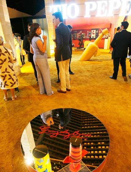 La exposición permanecerá abierta hasta octubre en la Bodega Tío Pepe  Foto: Pascual