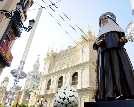 La talla, realizada por José Antonio Navarro Arteaga, se bendijo el pasado mes de mayo.  Foto: Juan Carlos Váquez
