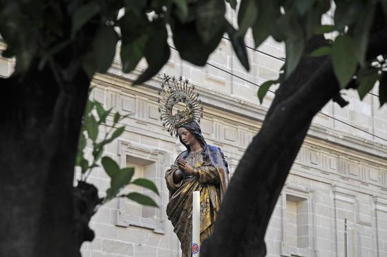 La Inmaculada con la Catedral de fondo.  Foto: Juan Carlos Váquez