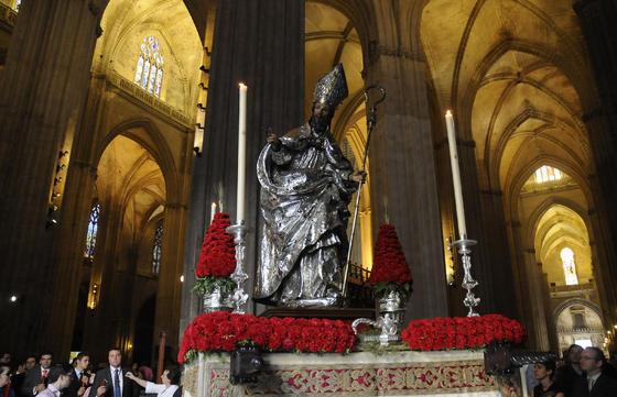 San Leandro en el interior de la Catedral.  Foto: Juan Carlos Váquez