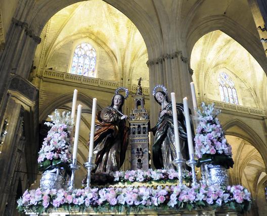 Santas Justa y Rufina, las dos santas trianeras.  Foto: Juan Carlos Váquez