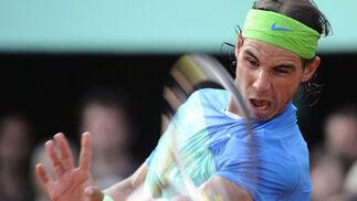 Un momento del partido de semifinal entre el español Rafa Nadal y el austriaco Jurgen Melzer.  Foto: Agencia