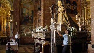 La Virgen será trasladada en la madrugada del próximo sábado a la Cartuja para la beatificación de Madre María de la Purísima.  Foto: Victoria Hidalgo