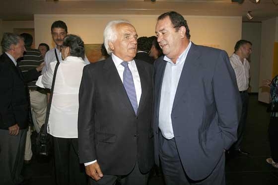 Antonio Morillo y José de Mier, delegado del Estado de la Zona Franca.  Foto: Joaquin Pino
