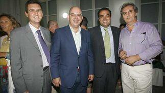 Javier Sánchez Rojas, secretario general de la CECA, junto a Miguel Berraquero, David Fernández y Domingo Martínez.  Foto: Joaquin Pino