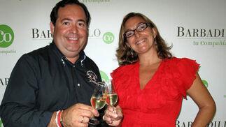 Antonio Díaz Soltero, director de Marketing de Barbadillo, y Margot Coca, directora creativa para Barbadillo.  Foto: Victoria Ramírez