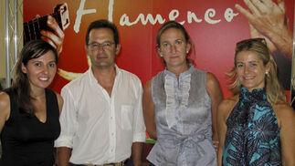 Pilar López Casquete de Prado, gerente de Joly Digital; los concejales del PP Joaquín Peña y María del Mar Sánchez Estrella y Rocío Mesa, responsable de Tecnología de Joly Digital.  Foto: Victoria Ramírez
