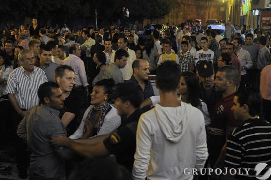 Apenas ha habido altercados de importancia pese a la gran cantidad de público.  Foto: Manuel Gomez