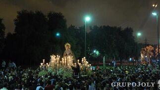La Macarena en el parque del Alamillo.  Foto: Manuel Gomez