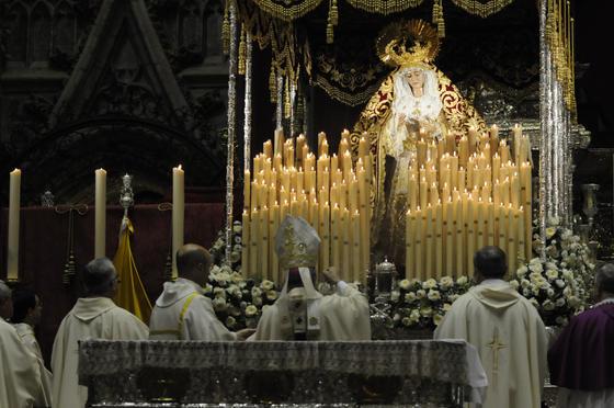 Acto de coronación de la Virgen de Regla.  Foto: Juan Carlos Vázquez