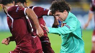El Barcelona no puede pasar del empate en Rusia frente al Rubin. / AFP