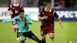 El Barcelona no puede pasar del empate en Rusia frente al Rubin. / EFE
