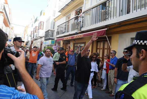 Los piquetes forzaron el cierre de comercios y supermercados, así como de Bahía Sur  Foto: Elias Pimentel