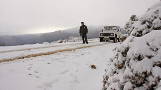 Por encima de los 1.500 metros de altitud podían verse espectaculares imágenes de la primera nevada que cae en la temporada en la provincia. Hasta 50 centímetros de grosor alcanzaba la capa de nieve en algunos puntos del puerto Pilones y el pico Torrecilla.  Foto: Javier Flores