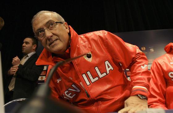 Gregorio Manzano antes de la rueda de prensa.  Foto: Philippe Gerard (FP Sport)