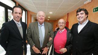 José Argudo, el empresario hotelero Jan de Clerck, Faustino Rodríguez y Jaime Estévez.  Foto: Pascual