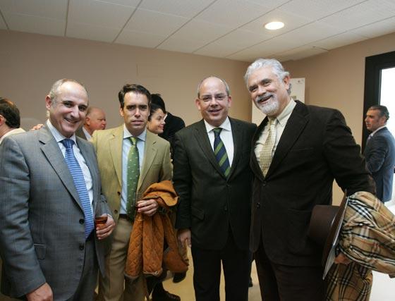 Francisco Romero, Rafael Navas, Javier Sánchez Rojas y Antonio Sánchez Mejías.  Foto: Pascual