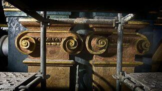 Aparecen nuevos frescos en los trabajos de rehabilitación del Oratorio de San Felipe Neri.   Foto: Julio Gonzalez