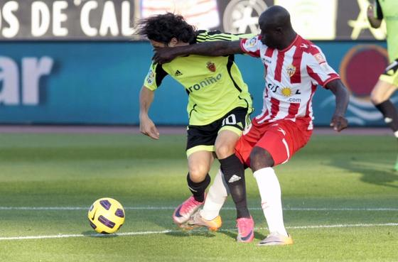 El Almería no puede con el colista de Liga en el estadio Mediterráneo (1-1). / EFE