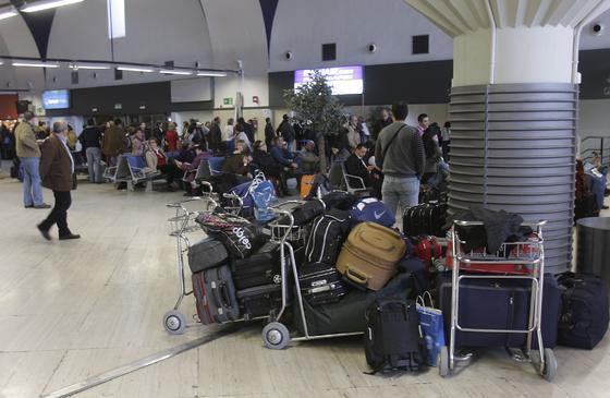 Caos en el aeropuerto de San Pablo