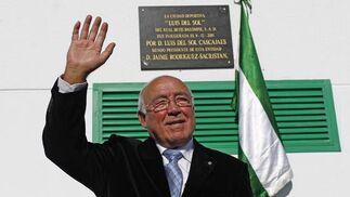 Luís del Sol en la inauguración de la Ciudad Deportiva que lleva su nombre.  Foto: Antonio Pizarro