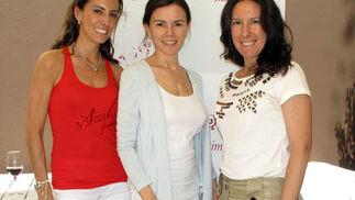 María Lucas 'Lucas', Beatriz Gutiérrez y María José Manzano, del blog 'Mariposes'.  Foto: Victoria Ramírez