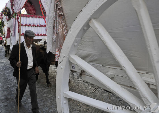 Carretas por el paso de Triana.  Foto: Juan Carlos Vázquez
