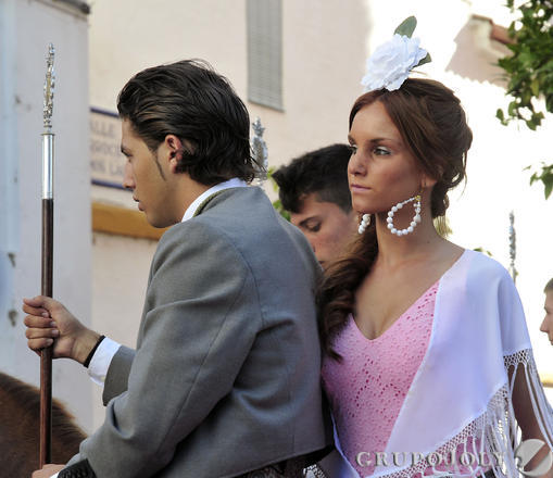 Jóvenes romeros a caballo.  Foto: Juan Carlos Vázquez