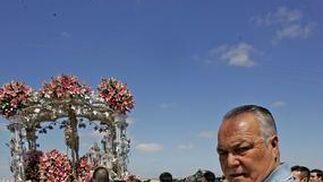 Francisco Gandón, ayer, durante la romería.  Foto: Pascual