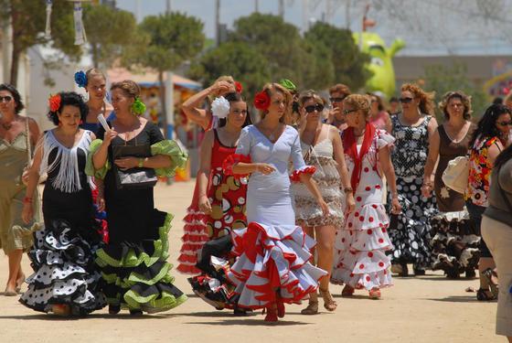 Las mujeres, las protagonistas en el recinto ferial  Foto: Paco P./Sonia Ramos