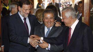 Rajoy, Zoido y Arenas.  Foto: Antonio Pizarro - Manuel Gómez