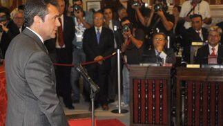 Espadas promete su cargo de concejal.  Foto: Antonio Pizarro - Manuel Gómez