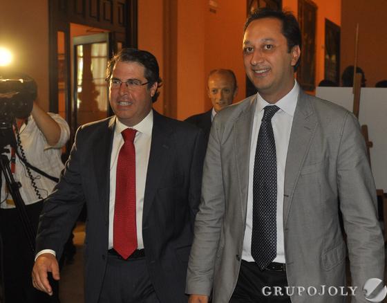 Gregorio Serrano y Alfonso Rodríguez Gómez de Celis  Foto: Antonio Pizarro - Manuel Gómez