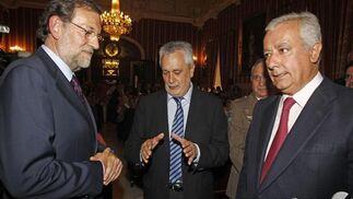 Rajoy, Griñán y Arenas.  Foto: Antonio Pizarro - Manuel Gómez