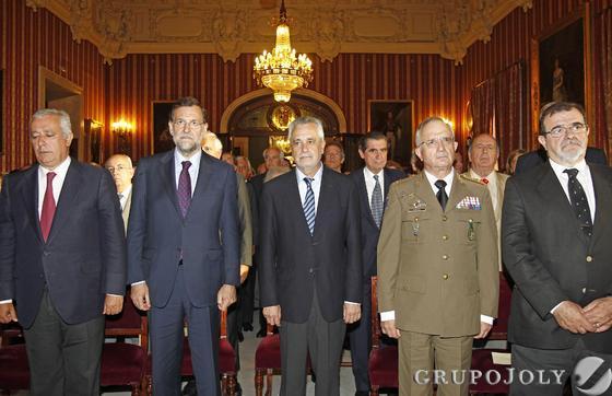 Javier Arenas, Mariano Rajoy, José Antonio Griñán, Virgilio Sañudo y José Rodríguez de la Borbolla  Foto: Antonio Pizarro - Manuel Gómez