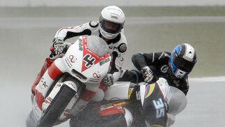 La carrera de Moto2 del Gran Premio de Gran Bretaña.  Foto: AFP Photo