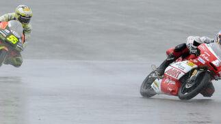 La carrera de 125 cc del Gran Premio de Gran Bretaña.  Foto: AFP Photo