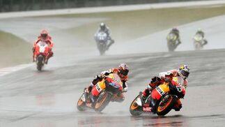 La carrera de MotoGP del Gran Premio de Gran Bretaña.  Foto: AFP Photo