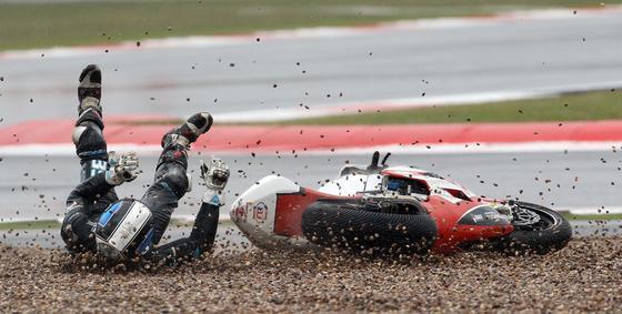 Raffaele de Rosa se cayó en Silverstone.  Foto: AFP Photo